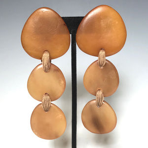 Gerda Lynggaard Monies 3 Tiers Horn Clip Earrings